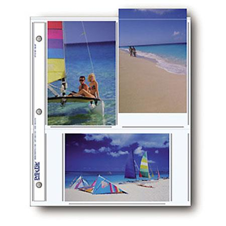 Print File Archival Photo Pages Holds SixPrints Pack of  100 - 31