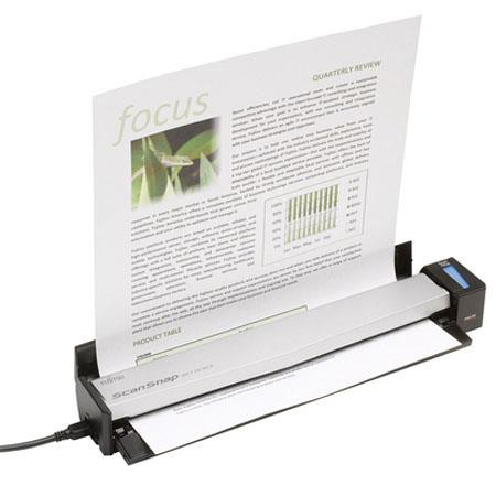 Fujitsu ScanSnap S Color Mobile Scanner dpi Resolution USB Powered Seconds Per Page and Mac Compatib 268 - 2
