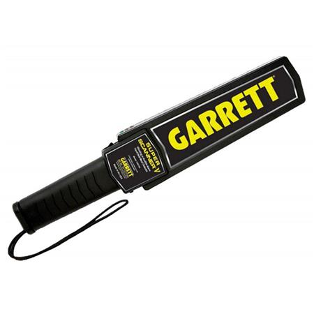 Garrett Super Scanner V Hand Held Metal Detector Audible Vibrating Alarms 121 - 189