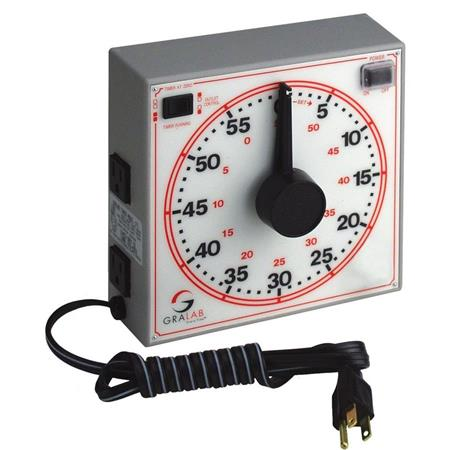Gralab Universal Darkroom Timer Dual Outlets Wall Mountable 134 - 427