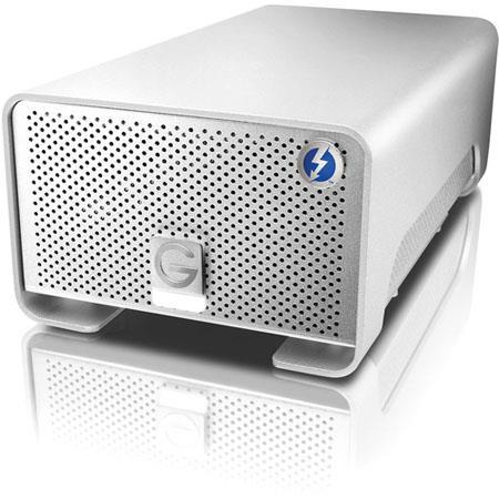 G Technology TB G RAID External Hard Drive Array Thunderbolt SATA III Drive Bays RAID  45 - 614