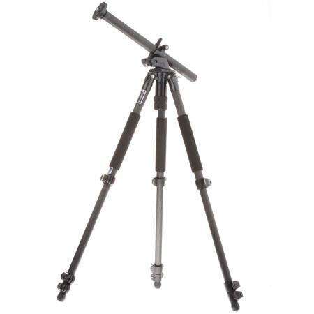 Giottos MTL B Adjustable Column Carbon Fiber Tripod Maximum Height Supports lbs 146 - 490