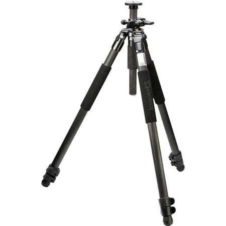 Giottos MTL B Section Compact Carbon Fiber Tripod Maximum Height Supports lbs 58 - 87
