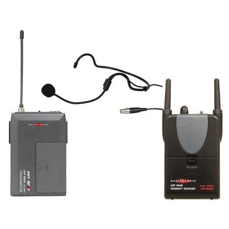 Galaxy Audio AS HSCK Cardioid Headset Any Spot Handheld Wireless Camera Kit 45 - 343