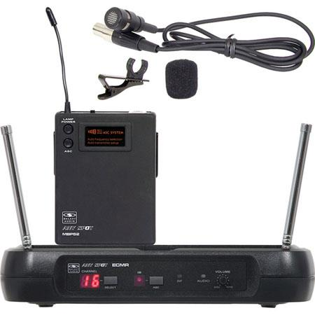 Galaxy Audio ECMRLV Wireless UHF Lavalier Microphone System Frequency Band L Selectable Channels 48 - 392