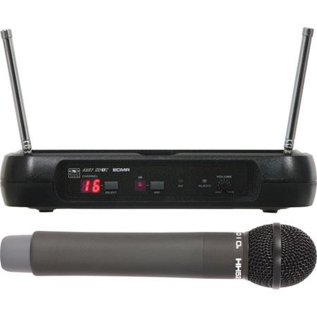 Galaxy Audio ECMRHH Wireless UHF Handheld Microphone System Frequency Band L Selectable Channels 79 - 613