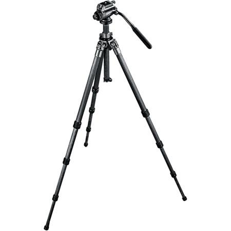 Gitzo GKLLVLQR SeriesLeveling Section Fluid Tripod Kit Carbon Fiber Tripod Series Fluid Video Head M 135 - 359