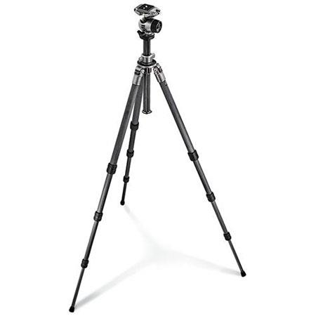 Gitzo GKQR Series Section Carbon Fiber Tripod Ballhead and Rapid Column Maximum Height Supports lbs 48 - 539
