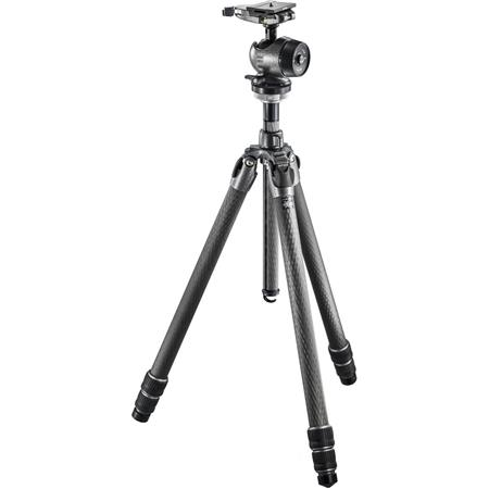 Gitzo GK QD Mountaineer Series Carbon Fiber Sections Tripod Kit Includes Centre Ball Head Arca Swiss 120 - 293