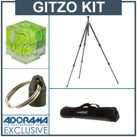 Gitzo GT Series Carbon Fiber Tripod Legs Kit Kit Adorama Deluxe Tripod Case Double Bubble Level Trip 56 - 632