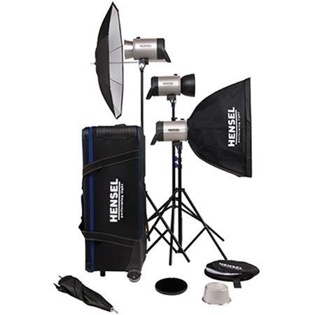 Hensel Integra Pro Super Size Kit Three Integra Pro Monolights Accessories Total watt Seconds 192 - 12