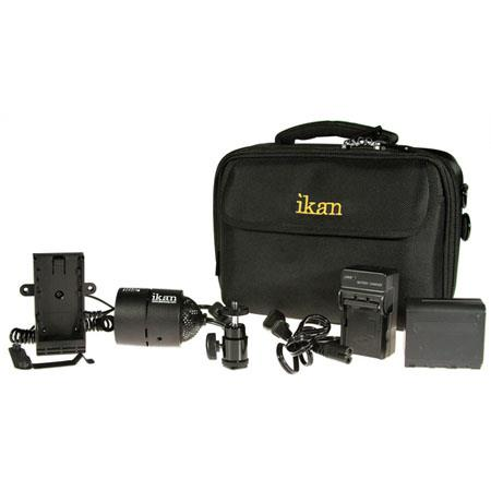 ikan ILED ONE DK S iLED ONE Deluxe Kit Sony Camcorders and DSLRs deg Tungsten balanced LED Interchan 135 - 752