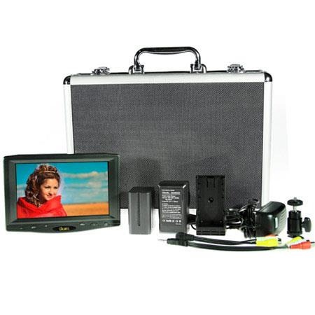 ikan VL DK S HDMI Monitor Deluxe Kit Sony Battery Plate Hard Case Shoe Mount AC Adapter and Composit 65 - 521