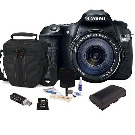 Canon EOS D DSLR Camera Lens Kit Canon EFS IS Lens USA Warranty GB SDHC Memory Cards Camera Bag Spar 75 - 130