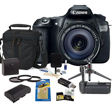 Canon EOS D DSLR Camera Lens Kit Canon EFS IS Lens USA Warranty GB SDHC Memory Card Camera Bag Spare 163 - 103