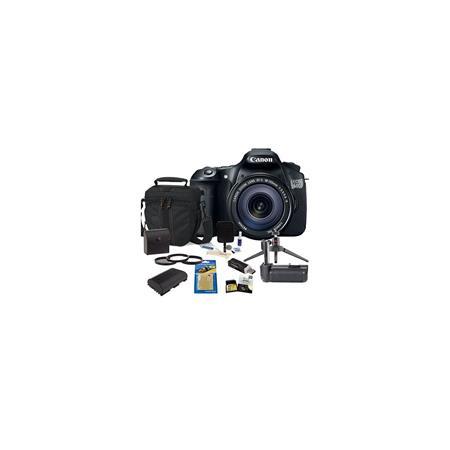 Canon EOS D DSLR Camera Lens Kit Canon EFS IS Lens USA Warranty GB SDHC Memory Card Camera Bag Spare 25 - 493