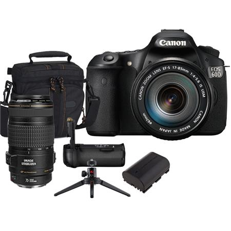 Canon EOS D Digital SLR Camera Lens Kit EF S f IS Lens EF f IS USM Autofocus Telephoto Zoom Lens 118 - 518