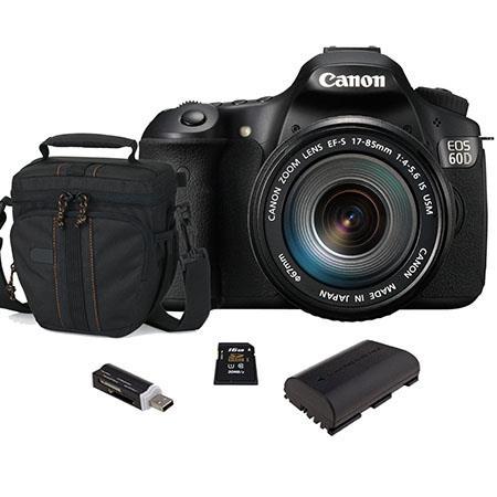 Canon EOS D DSLR Camera Body Kit EF S f IS Lens USA Warranty Bundle GB SDHC Memory Card Camera Bag S 492 - 297