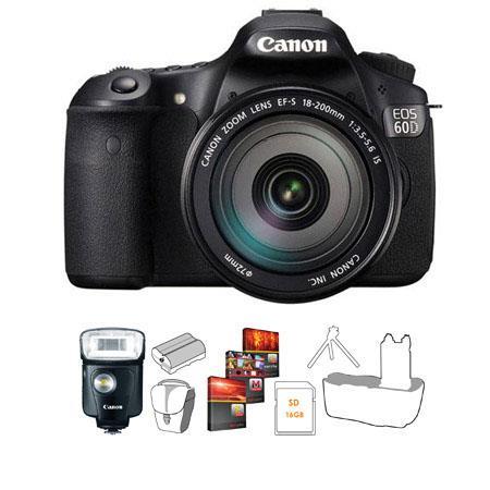 Canon EOS D Digital SLR Camera Body Kit Canon EF S f IS Lens Canon Speedlite EX 163 - 90