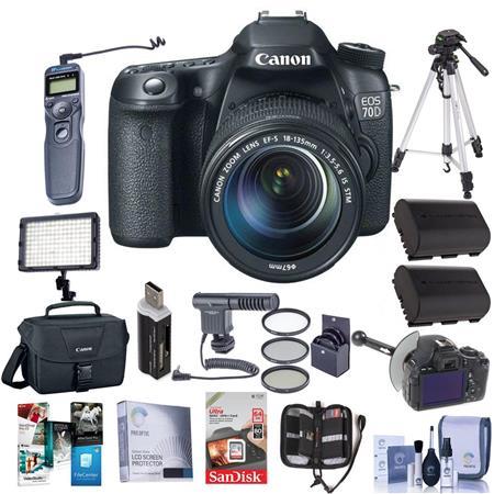 Canon EOS D Digital SLR Camera EF S F IS STM Lens BUNDLE GB SDHC Card Camera Case Newleaf Year Spill 317 - 766
