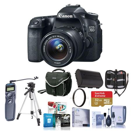 Canon EOS D Digital SLR Camera EF S F IS STM Lens BUNDLE GB SDHC Card Camera Case New Leaf Year Exte 94 - 587