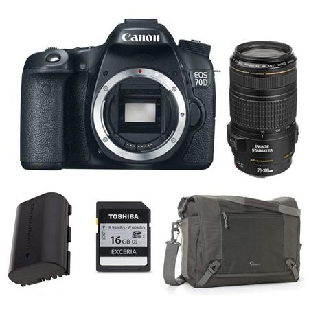 Canon EOS D DSLR Camera Body USA Bundle Canon EF f IS USM AF Lens USA 146 - 203
