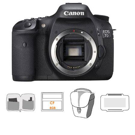 Canon EOS D Digital SLR Camera Body Kit Bundle GB CF Memory Card Slinger Camera Bag Cleaning Kit Mem 106 - 255