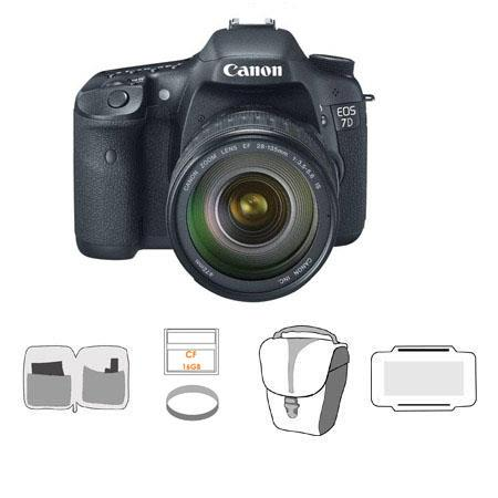 Canon EOS D Digital SLR Camera Lens Kit EF f IS USM Lens Bundle GB Compact Flash Card Adorama Slinge 155 - 110