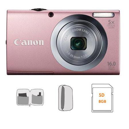 Canon PowerShot A Digital Camera Kit GB SD Card Camera Case Cleaning Kit 198 - 440
