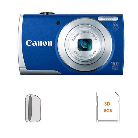 Canon PowerShot A Digital Camera Blue Bundle GB SDHC Memory Card Camera Case 101 - 130