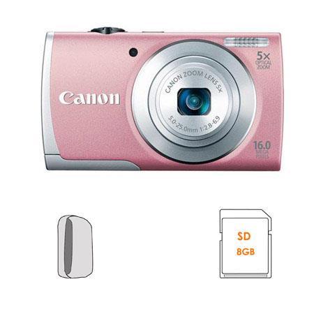 Canon PowerShot A Digital Camera Bundle GB SDHC Memory Card Camera Case 205 - 265