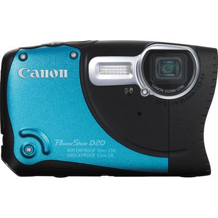 Canon PowerShot D Digital Camera Megapixel Wide Angle Lens CMOS SensorOptical Zoom LCD Waterproof Bl 162 - 456