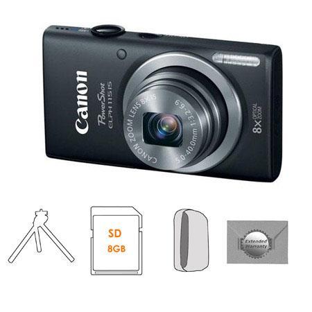 Canon PowerShot ELPH IS Digital Camera Bundle Camera Case GB SDHC Memory Card FleTable Top Tripod Ne 68 - 791