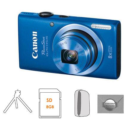 Canon PowerShot ELPH IS Digital Camera Blue Bundle Camera Case GB SDHC Memory Card FleTable Top Trip 135 - 440