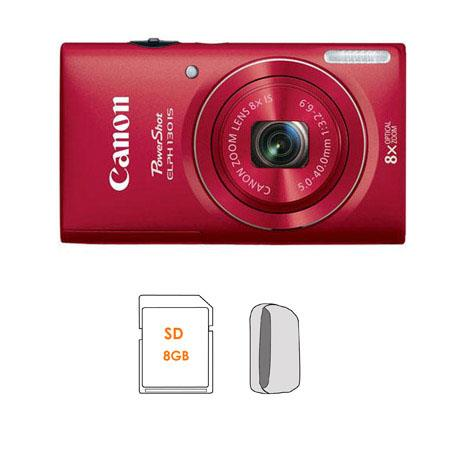 Canon PowerShot ELPH IS Digital ELPH Camera Bundle GB SDHC Memory Card Camera Carrying Case 64 - 535