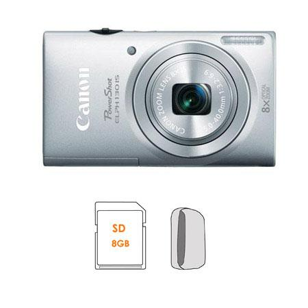 Canon PowerShot ELPH IS Digital ELPH Camera Silver Bundle GB SDHC Memory Card Camera Carrying Case 64 - 535