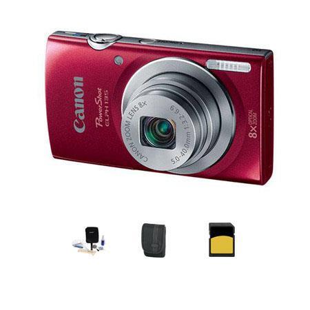 Canon PowerShot ELPH Digital Camera MPOptical Zoom RED Bundle GB Class SDHC Card LowePro Dublin Case 185 - 583