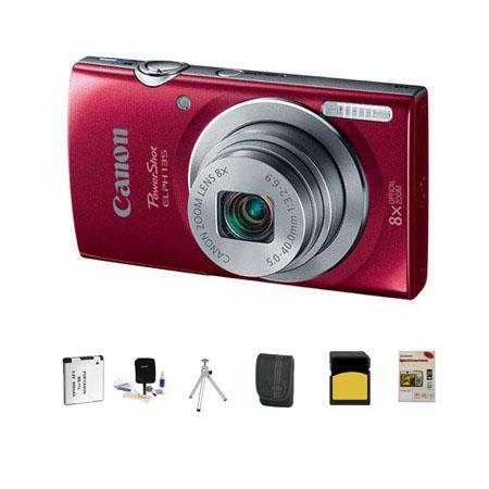 Canon PowerShot ELPH Digital Camera MPOptical Zoom RED Bundle GB Class SDHC Card LowePro Dublin Case 82 - 696