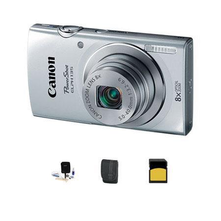 Canon PowerShot ELPH Digital Camera MPOptical Zoom Silver Bundle GB Class SDHC Card LowePro Dublin C 185 - 583