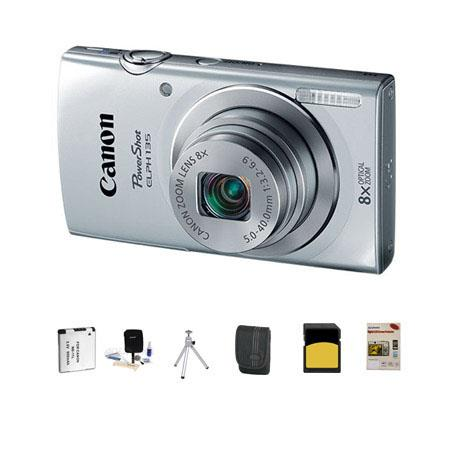 Canon PowerShot ELPH Digital Camera MPOptical Zoom Silver Bundle GB Class SDHC Card LowePro Dublin C 112 - 464