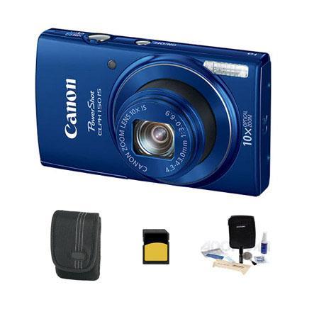 Canon PowerShot ELPH IS ELPH Digital Camera MPOptical Zoom Blue Bundle GB Class SDHC Card Lowepro Ca 109 - 279