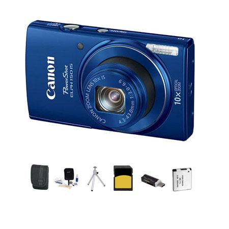 Canon PowerShot ELPH IS ELPH Digital Camera MPOptical Zoom Blue Bundle GB Class SDHC Card Lowepro Ca 12 - 712