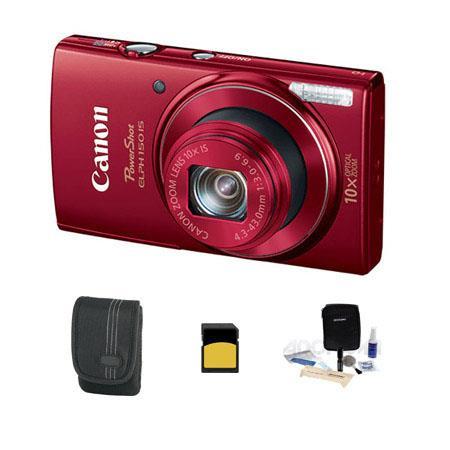 Canon PowerShot ELPH IS ELPH Digital Camera MPOptical Zoom RED Bundle GB Class SDHC Card Lowepro Cas 109 - 279