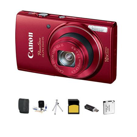 Canon PowerShot ELPH IS ELPH Digital Camera MPOptical Zoom RED Bundle GB Class SDHC Card Lowepro Cas 12 - 712