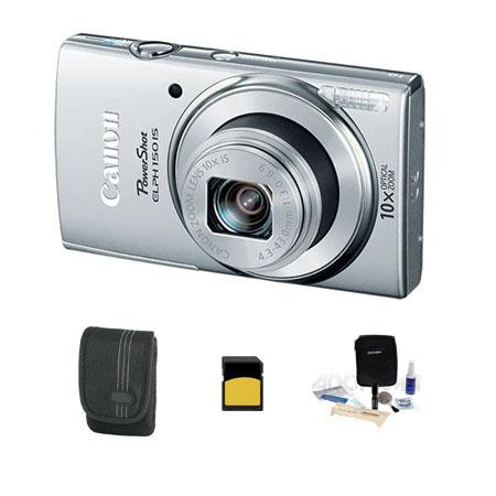 Canon PowerShot ELPH IS ELPH Digital Camera MPOptical Zoom Silver Bundle GB Class SDHC Card Lowepro  109 - 279