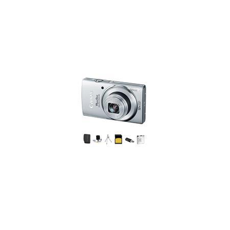 Canon PowerShot ELPH IS ELPH Digital Camera MPOptical Zoom Silver Bundle GB Class SDHC Card Lowepro  43 - 350