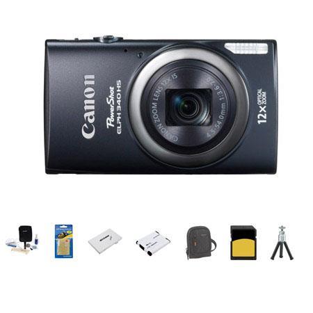 Canon PowerShot ELPH HS Digital Camera MP Bundle GB SDHC Class Memory Card LowePro Ridge Case Spare  123 - 684