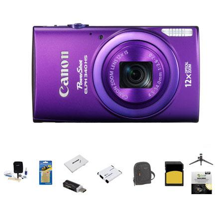 Canon PowerShot ELPH HS Digital Camera MP Bundle GB SDHC Class Memory Card LowePro Ridge Case Spare  143 - 232