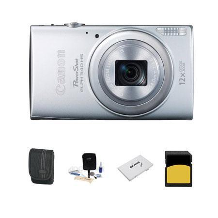 Canon PowerShot ELPH HS Digital Camera MP Silver Bundle GB SDHC Class Memory Card LowePro Dublin Cas 53 - 558