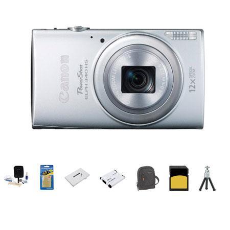 Canon PowerShot ELPH HS Digital Camera MP Silver Bundle GB SDHC Class Memory Card LowePro Ridge Case 300 - 118